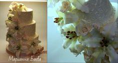 Свадебный торт с лилиями