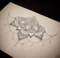 sternum tattoo - without the dangly part Pretty Tattoos, Love Tattoos, Beautiful Tattoos, Body Art Tattoos, New Tattoos, Space Tattoos, 1 Tattoo, Mandala Tattoo, Piercing Tattoo