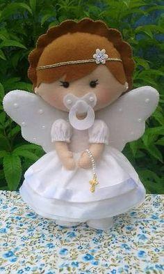 Resultado de imagen para anjo de tecido e feltro