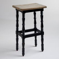 One of my favorite discoveries at WorldMarket.com: Black Penelope Spindle Stool