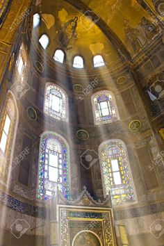 Interior View Of Hagia Sophia Museum In Istanbul