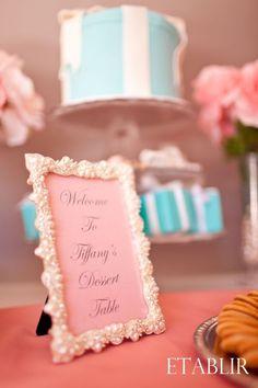 Pretty in Pink Bridal Shower w/ Tiffany's Blue Inspiration : wedding Dessert Table 2 Pearl Bridal Shower, Unique Bridal Shower, Bridal Shower Cakes, Bridal Shower Decorations, Wedding Decorations, Vintage Bridal Bouquet, Bridal Bouquet Fall, Elegant Dessert Table, Dessert Tables