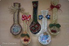 Декор для кухни - плетеные ложки