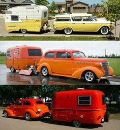 Vintage campers are just so cool to look at. it's so awesome when they drive into a campground or RV park! Which one would you pick for your camping days? Old Campers, Vintage Campers Trailers, Retro Campers, Vintage Caravans, Camper Trailers, Boler Trailer, Classic Trailers, Trailer Hitch, Happy Campers