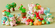Awww, I love these little animals and sea creatures made from soft polymer clay! So sweet. I want to be one!