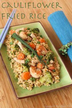 Cauliflower Fried Rice | cupcakesandkalechips.com | #asianfood #veggies #glutenfree