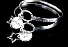 MI BIBI Naamarmbandjes Babyshower, Birth, Personalized Items, Bracelets, Diamonds, Armband, Baby Shawer, Bangle Bracelets, Shower Baby
