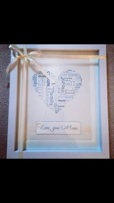 Personalised frame from £20  https://www.etsy.com/uk/shop/Creativecreations6?ref=hdr_shop_menu