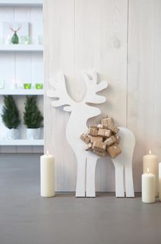 la decoración de mis mesas: ♥ Decoración con Renos de cartón.