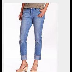 Old Navy Boyfriend Jeans 1/13 Host Pick Boyfriend jeans  distressed size 8 reg.Like new. Old Navy Jeans Boyfriend
