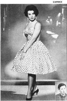 French female impersonator of the late 50's-1960's, Caprice. So feminine and cute!