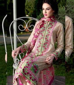 Gul Ahmed Embroidered Chiffon Collection Vol-1 C-177