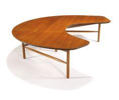 Greta Magnusson Grossman Cocktail table Designed c. 1952 Walnut Glenn of California