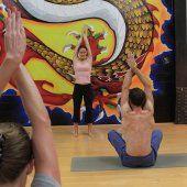 Dragon Mural inside our amazing Yoga Studio.