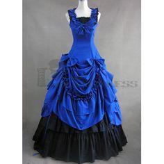 Blue Gothic Victorian Dresses