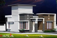 Single Floor House Design, Modern Small House Design, Small House Floor Plans, House Gate Design, House Front Design, Indian House Exterior Design, Kerala House Design, Latest House Designs, Cool House Designs