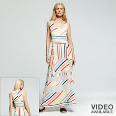 Peter Som for DesigNation Striped Maxi Dress - Women's
