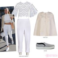 Gigi Hadid stuns in an all-white look as she heads for shopping right before she sets the Balmain runway on fire!