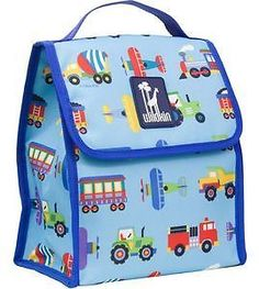 Trains, Planes & Trucks Munch N Lunch Bag by Wildkin - 55079 Keep it simple yet functional with this Munch n Lunch bag! Features Insulated, easy-to-clean, food-safe compartment, Folds flat for easy storage.   eBay!