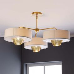 Mid-Century 3-Shade Chandelier - this could be awesome in your office, and it's bigger. thoughts?