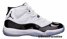 The Air Jordan 11 (XI) Original (OG) – Concords (White / Black – Dark Concord) were released in November, 1995, and retailed for $125. They are dubbed the Concords, after the official colorway. They f