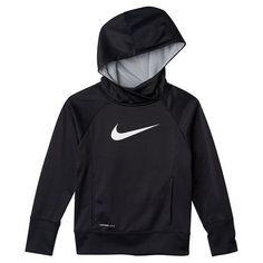 Nike Girls' KO 3.0 Over The Head Training Hoodie Size Medium Black White New #Nike #Everyday