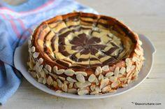 Cheesecake zebră sau rețeta de pască fără aluat (în două culori)   Savori Urbane Tiramisu, Cheesecake, Pie, Ethnic Recipes, Sweet, Desserts, Sweets, Recipies, Torte