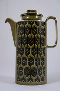 Hornsea pottery - Heirloom - Green. I`m sure my dad has some mugs in this…