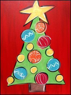 Image result for christmas paintings on canvas