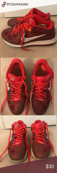 info for 1531e b8e87 Nike Men s Red Lebron 9 Low Sneakers Nike Men s Lebron 9 Low Sneakers Size 8 .