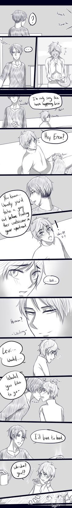 Levi x Eren || The cat that loves to play matchmaker by magickitt on DeviantArt