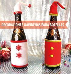 decoraciones-navideñas-para-botellas