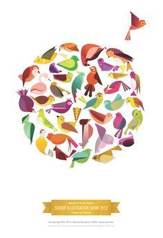 Poster design for the University of the Art's Senior Illustration Thesis Show of 2012 in Philadelphia.
