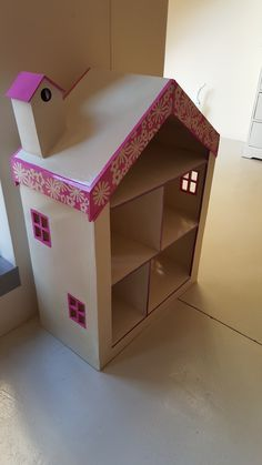 Side view of Large Wooden Doll's House