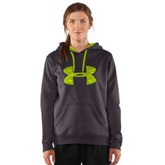 Women's Armour® Fleece Storm Printed Big Logo Hoody Tops by Under Armour Small Carbon Heather by Under Armour. $64.99. The hood is designed with a liner and draw cord, and the Under Armour logo across the chest adds a sporty look.. Armour® Fleece fabric finished with UA Storm technology to repel water. Soft, brushed inner layer traps heat for all-day warmth and comfort. Signature Moisture Transport System wicks sweat to keep you dry and light. Lightweight stretch constr...