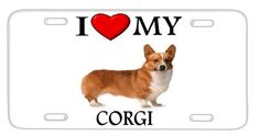 Corgi 2 I Love My Dog Metal License Plate Photo Wall Sign for Auto Car Truck Tags Personalized Custom by BlingSity on Etsy https://www.etsy.com/listing/157768345/corgi-2-i-love-my-dog-metal-license