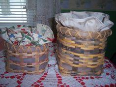 2 handmade basketswith Longaberger basket by Traincasesandmore, $25.00