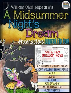 A Midsummer Night's Dream by William Shakespeare: Interactive Layered Flip Book ($)
