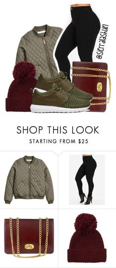 """Draft Set #21"" by sierralashun on Polyvore featuring H&M, Marlafiji, Portolano and NIKE"