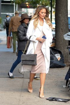 Chrissy Teigen's impressive collection of luxury bags includes nearly every It tote, top handle, and duffel under the sun, including styles from Hermès, Givenchy, Chloé, The Row, Valentino, Chloé, Prada and Céline.