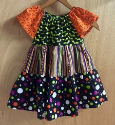 Halloween Peasant Dress size 3t by SewMeems on Etsy