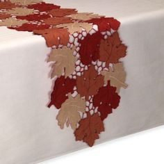 Scattered Leaves Table Runner - BedBathandBeyond.com