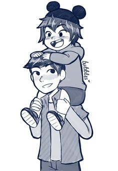 Hiro and I at Disneyland when we were younger.