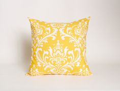 Yellow Pillow Cover Yellow Cushion Cover 20 by DimensionsHomeDecor