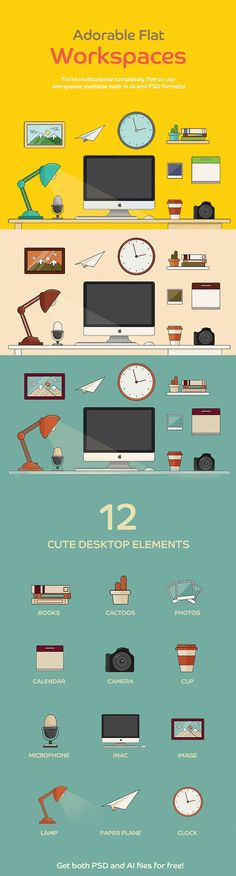 Free Adorable Flat Workspace Icon