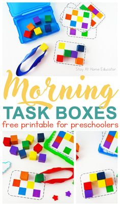 5 Activities for Teaching Colors to Preschoolers with Free Task Cards. These color activities are simple prep as well as engaging for toddlers and preschoolers! Preschool Color Activities, Preschool Prep, Preschool Centers, Motor Skills Activities, Preschool Lesson Plans, Preschool Learning Activities, Preschool Classroom, Classroom Activities, Toddler Fine Motor Activities