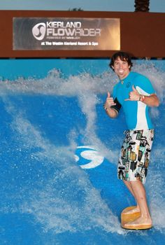 Surf in the Arizona desert at the FlowRider wave pool