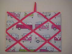 Handmade Camper van fabric noticeboard by SunnyBunnyCraft on Etsy, £14.00