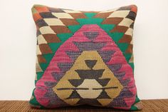 Traditional Kilim pillow cover 20 x 20 Hand by kilimwarehouse, $59.00