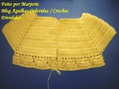 This Pin was discovered by Şer Crochet Yoke, Crochet Fabric, Baby Girl Crochet, Newborn Crochet, Crochet For Kids, Crochet Designs, Crochet Patterns, Newborn Girl Dresses, Cardigan Bebe